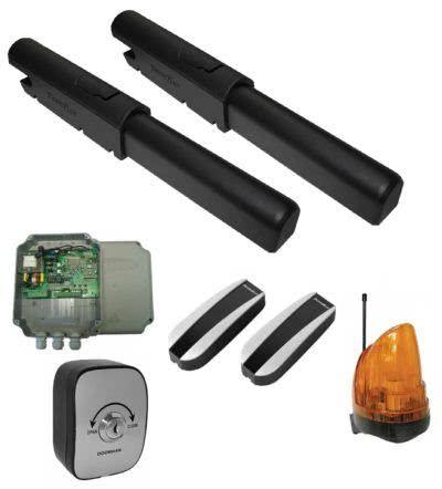 Комплект привода SW-3000PROKIT, в составе привода SWING-3000PRO 2 шт, блок управления SW-MINI, ключ-кнопка KEYSWITCH-N, фотоэлементы PHOTOCELL-N, сигнальная лампа LAMP
