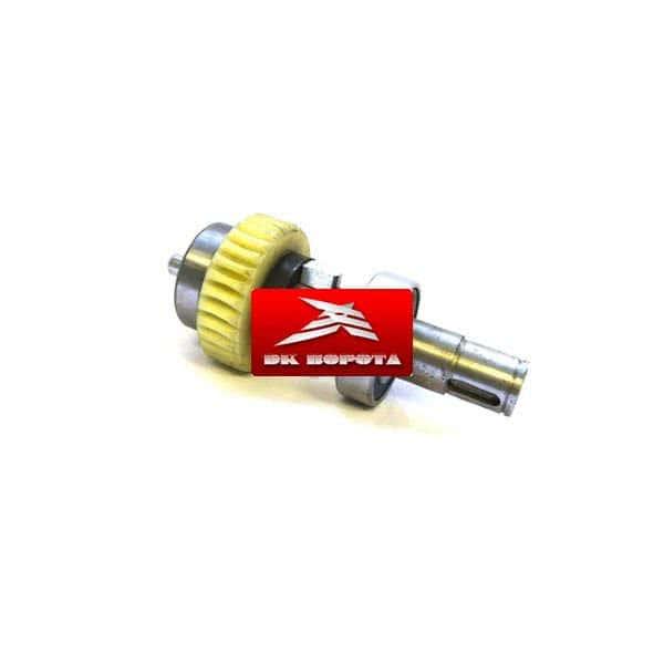 DoorHan DHSL011 рабочий вал двигателя с шестерёнкой и подшипниками в сборе SLIDING-1300/2100