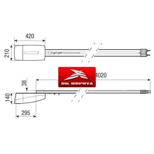CAME VER10DMS (801MV-0010) привод для гаражных ворот