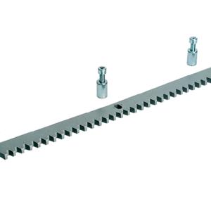 CAME CA123001 — зубчатая рейка из оцинкованной стали 30 x 12 мм с отверстиями и втулками для крепления