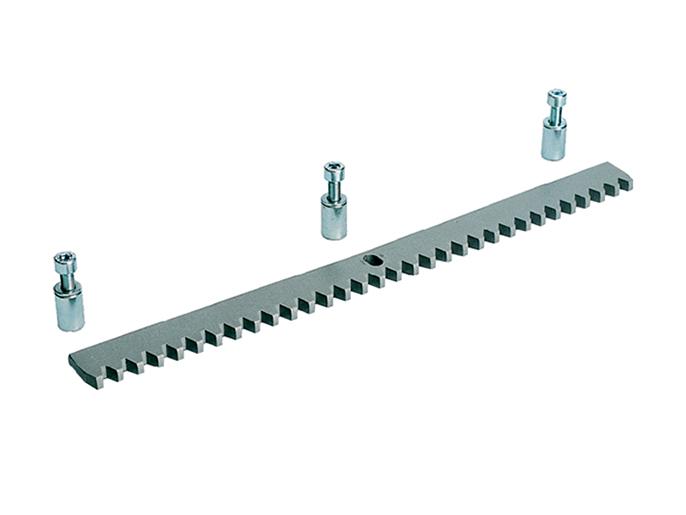 CAME CA083001 — зубчатая рейка Из оцинкованной стали 30 x 8 мм с отверстиями и втулками для крепления