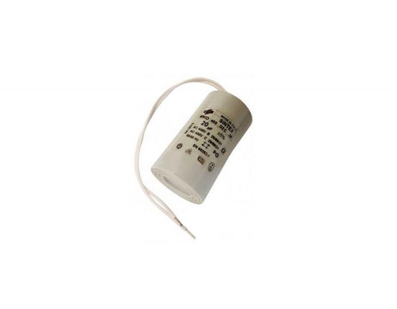 FAAC 7601395 конденсатор пусковой 20 мкФ, 400 В для серии 541