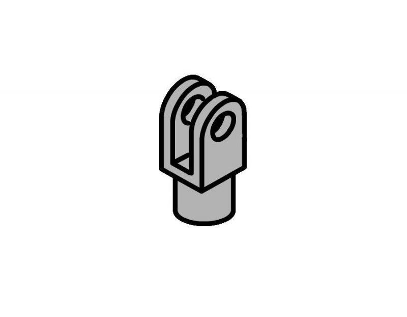 FAAC 7221035 вилка крепления гидроцилиндра без пружины к верхнему шарниру для шлагбаумов 620/640