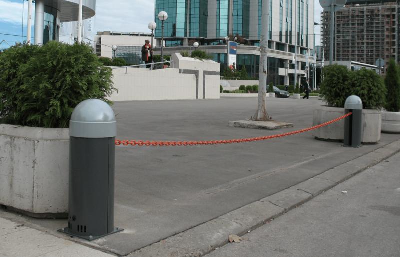 CAME CAT-I — колонна цепного барьера с противовесом и системой натяжения цепи