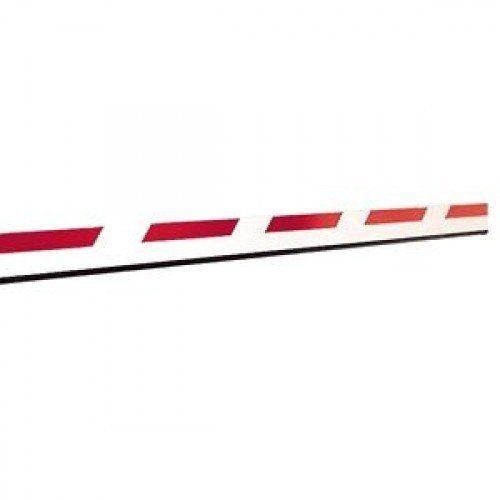Стрела для шлагбаума FAAC прямоугольная с демпфером и светоотражающими наклейками, 25х90х4815мм