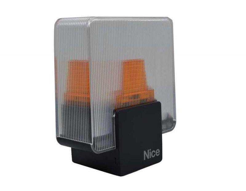 Nice ELDC прозрачная сигнальная лампа с антенной 12/24 В. для ворот и шлагбаумов