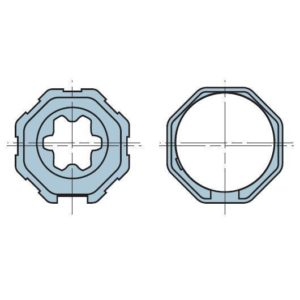 Адаптер для октогонального вала 40 мм. 503.04000