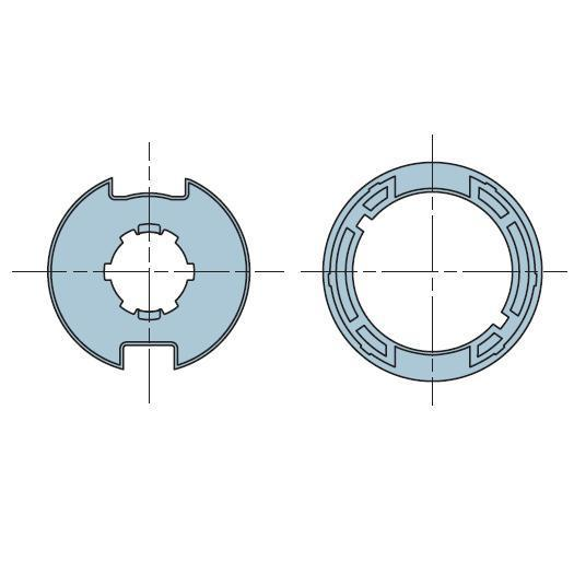 Адаптер для круглого вала 40 мм 42×46 503.24015