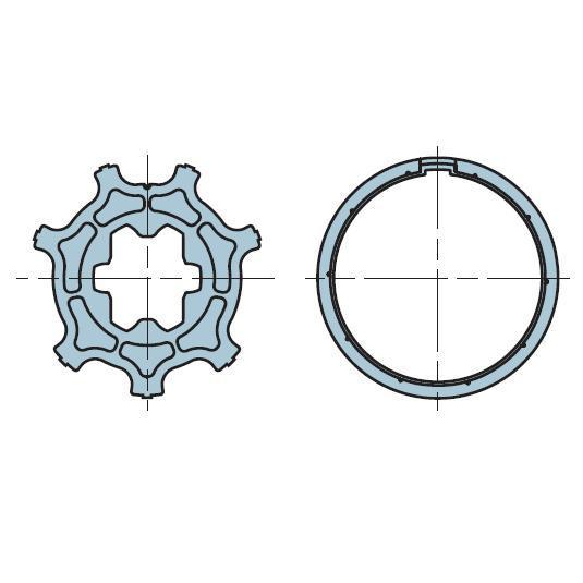 Адаптер для круглого вала 44 мм. 503.24115