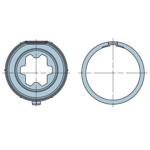 Адаптер для круглого вала 44-46-53мм 503.24315