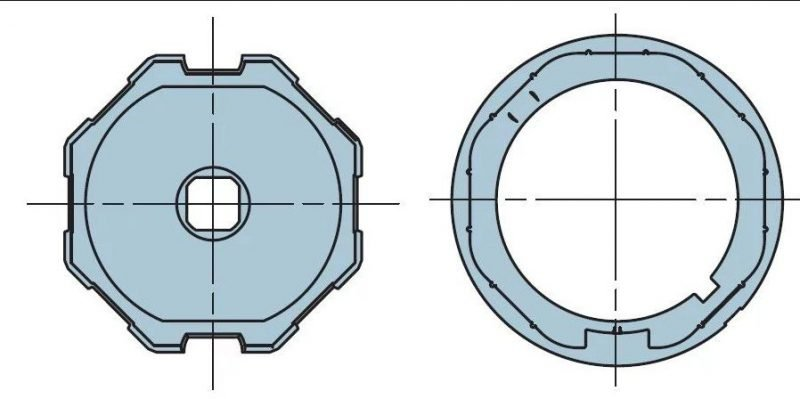 Адаптер для октогонального вала 60 мм. 505.06000