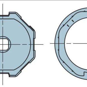 Адаптер для октогонального вала 70 мм. 505.07000