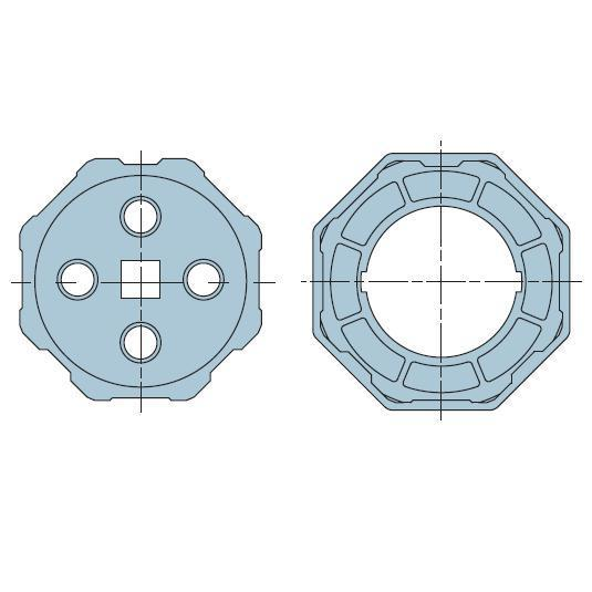 Адаптер для октогонального вала 102 мм. 506.01020