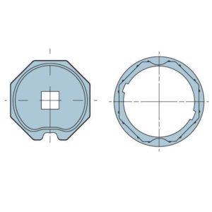 Адаптер для октогонального вала 70 мм. 506.07000
