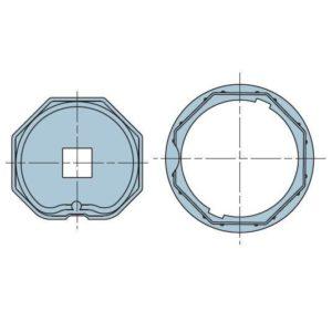 Адаптер для октогонального вала 70 мм. 506.07015