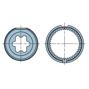 Адаптер для круглого вала 43,50-44 мм. 513.24215