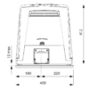 CAME BKV15AGS — привод 36 В для промышленных откатных ворот весом до 1500 кг