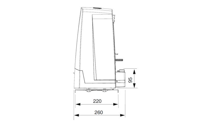 CAME BKV15AGE PLUS — привод 36 В для промышленных откатных ворот весом до 1500 кг