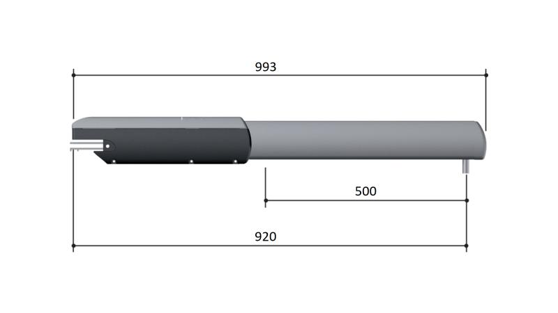 Привод Came 001A5024N — 24 В линейный, самоблокирующийся для распашных ворот с интенсивным использованием