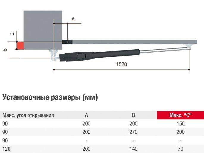 Привод CAME ATS50DGS — 24 В линейный, самоблокирующийся, для створок до 5 м, арт. 801MP-0080