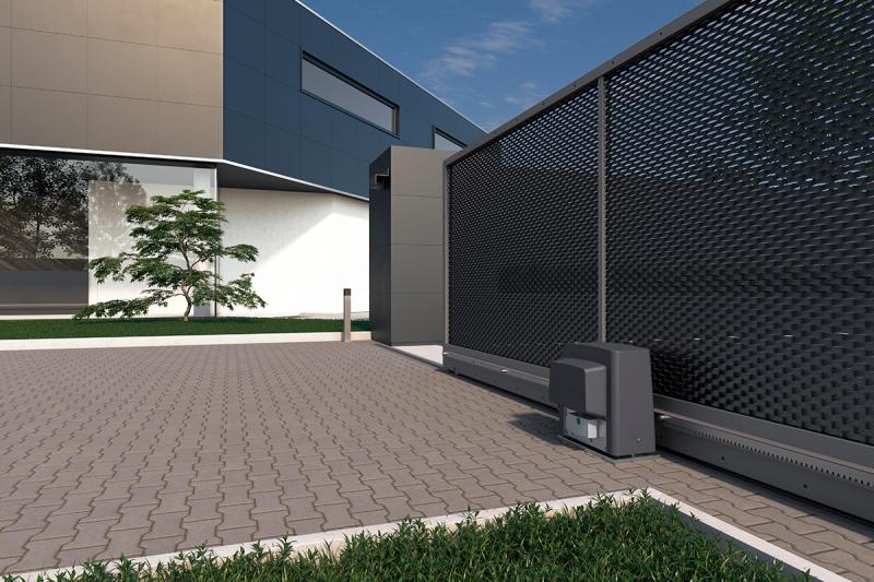 CAME BKS18AGS — комплект промышленной автоматики для откатных ворот на основе привода BKS 18