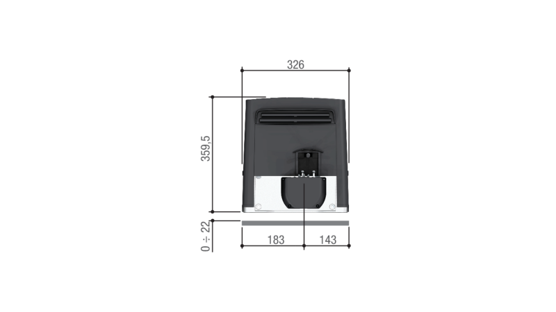 CAME BKS 18 — привод 230 В для откатных ворот весом до 1800 кг