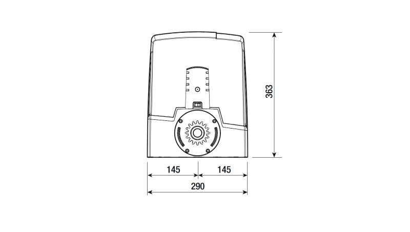 CAME BXV06AGF — скоростной привод 24 В для откатных ворот до 600 кг