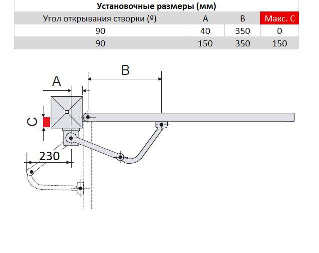 CAME FLEX 500/1 — комплект для распашной калитки шириной до 1,6 метров