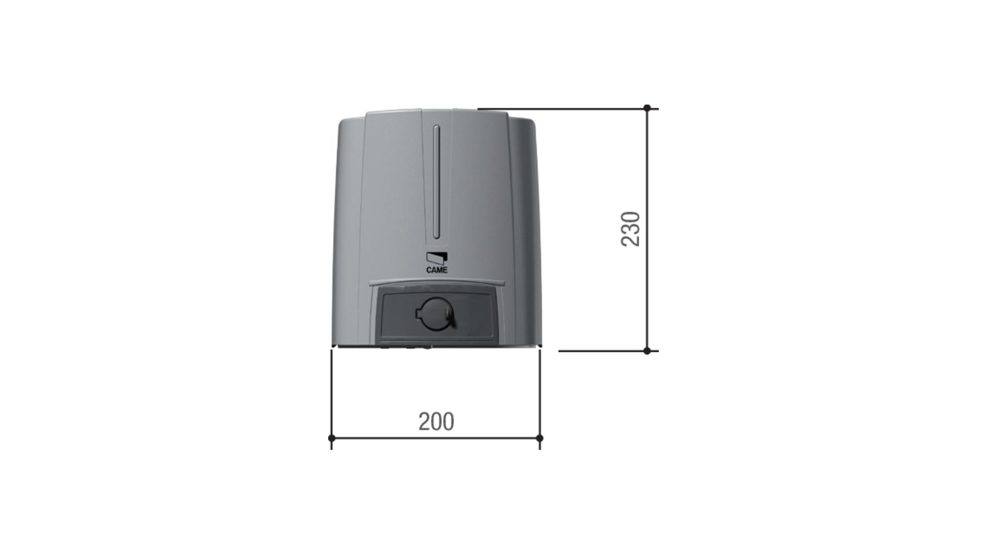 Привод CAME FA70230CB — 230 В рычажный, самоблокирующийся с шарнирным рычагом передачи и встроенным блоком управления ZF1, для распашных ворот с широкими колоннами