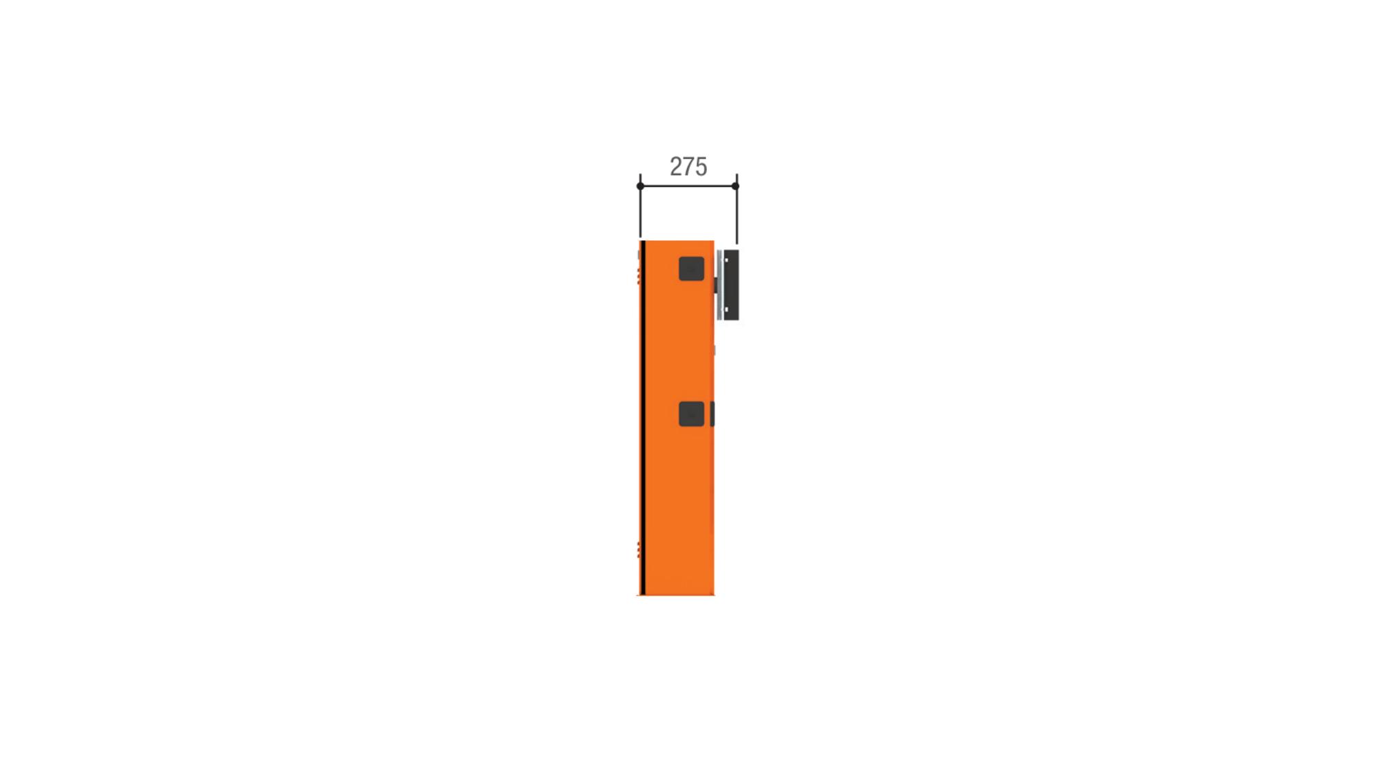 Тумба G2500 шлагбаума CAME GARD 2500 из оцинкованной и окрашенной стали для левостороннего монтажа