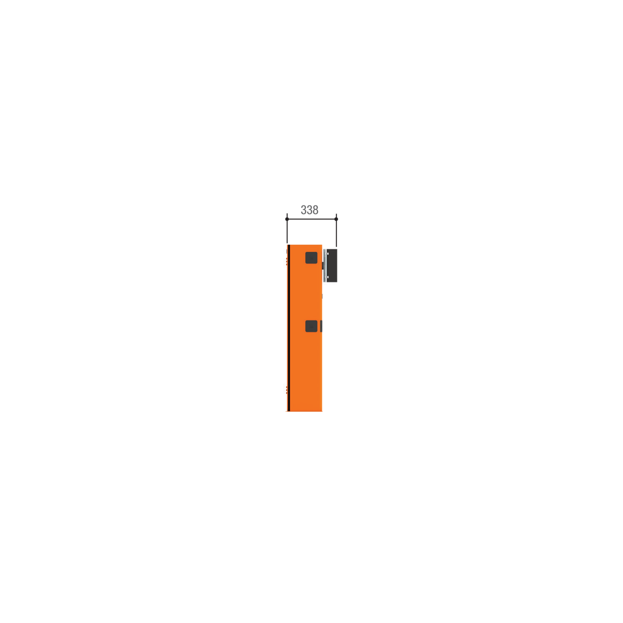 Тумба шлагбаума CAME GARD 3750 для левостороннего или правостороннего монтажа
