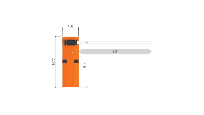 Тумба G6500 шлагбаума CAME GARD 6500 для левостороннего или правостороннего монтажа