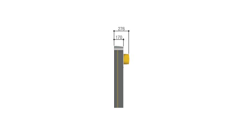 GPT40AGS — тумба шлагбаума CAME с бесщеточным двигателем, для проездов до 3,8 м