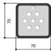 S6000 Клавиатура кодонаборная встраиваемая, 7-кнопочная