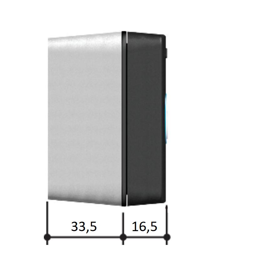 SELB1SDG1 — Считыватель накладной Bluetooth с синей подсветкой для 15 пользователей, цвет RAL7024
